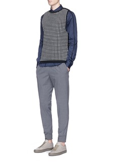 WooyoungmiTextured grid knit vest
