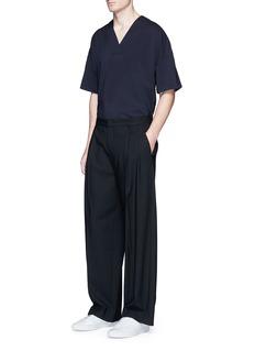 WooyoungmiCheck plaid front surplice neck T-shirt