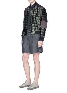 WooyoungmiMix stripe panel bomber jacket