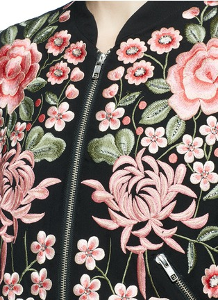 Detail View - Click To Enlarge - Needle & Thread - Beaded floral embroidered bomber jacket