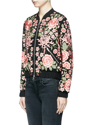 Front View - Click To Enlarge - Needle & Thread - Beaded floral embroidered bomber jacket