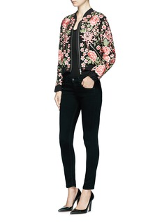 Needle & Thread Beaded floral embroidered bomber jacket