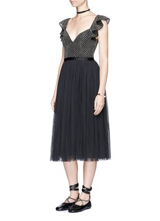 Needle & Thread 'Swan' sequin mesh bodice tulle dress