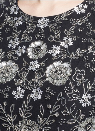 Detail View - Click To Enlarge - Needle & Thread - Floral embellished prom dress