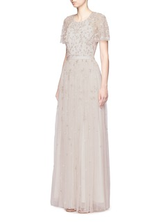 Needle & Thread 'Starlit' floral embellished tulle gown