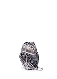 Judith Leiber'Owl Wisdom' crystal pavé minaudière