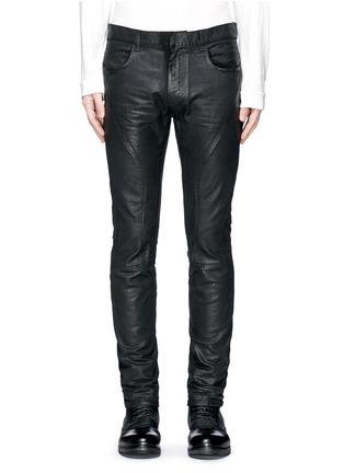 Detail View - Click To Enlarge - Faith Connexion - Waxed denim slim fit biker jeans