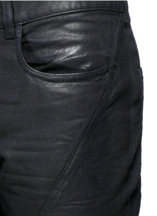 - Faith Connexion - Waxed denim slim fit biker jeans