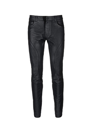 Main View - Click To Enlarge - Faith Connexion - Waxed denim slim fit biker jeans