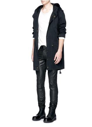 Figure View - Click To Enlarge - Faith Connexion - Waxed denim slim fit biker jeans