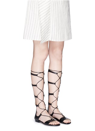 Figure View - Click To Enlarge - Michael Kors - 'Sofia' leather gladiator sandals