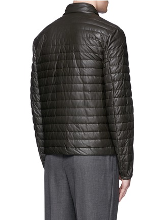 Back View - Click To Enlarge - Moncler - 'Geslin' quilted down leather jacket