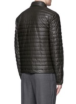 'Geslin' quilted down leather jacket
