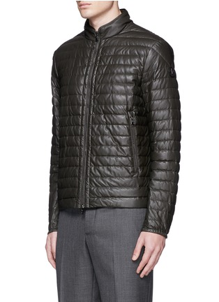 Front View - Click To Enlarge - Moncler - 'Geslin' quilted down leather jacket