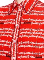 Cursive logo print silk shirt