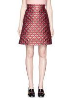 Metallic bee jacquard A-line skirt