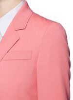Wool-silk notched lapel jacket