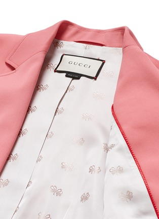- Gucci - Wool-silk notched lapel jacket