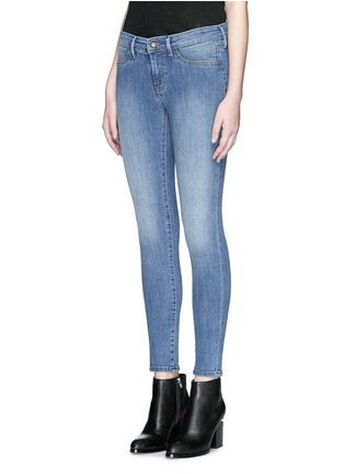 Front View - Click To Enlarge - Denham - 'Spray' active denim skinny jeans