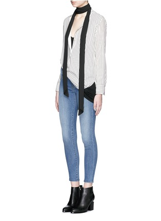 Figure View - Click To Enlarge - Denham - 'Spray' active denim skinny jeans