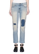 'Monroe' repaired patch distressed jeans
