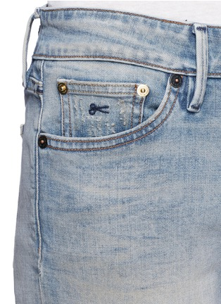 Detail View - Click To Enlarge - Denham - 'Monroe' repaired patch distressed jeans