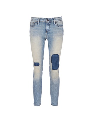 Main View - Click To Enlarge - Denham - 'Monroe' repaired patch distressed jeans