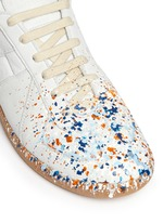 'Replica' paint splatter suede sneakers