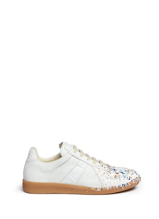 Maison Margiela - 'Replica' paint splatter suede sneakers