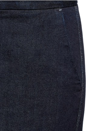 Detail View - Click To Enlarge - Stella McCartney - 'Elsmere' contrast stitch raw denim wide leg pants