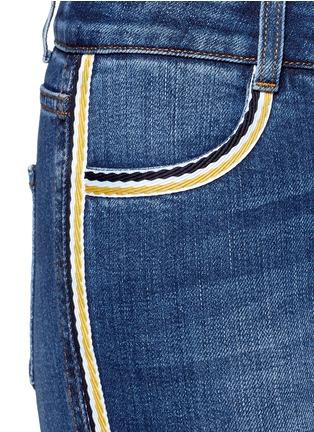 Detail View - Click To Enlarge - Stella McCartney - Dark wash stripe denim skinny pants