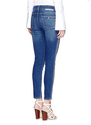Back View - Click To Enlarge - Stella McCartney - Dark wash stripe denim skinny pants