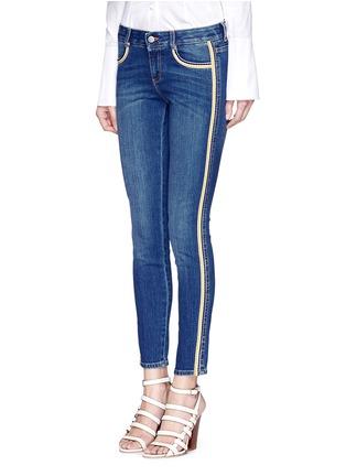 Front View - Click To Enlarge - Stella McCartney - Dark wash stripe denim skinny pants