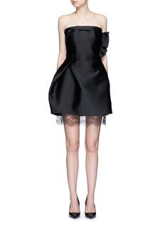 LANVINLace underlay duchesse satin dress