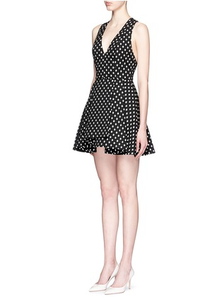 Front View - Click To Enlarge - alice + olivia - 'Tanner' polka dot jacquard dress