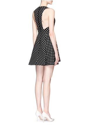 Figure View - Click To Enlarge - alice + olivia - 'Tanner' polka dot jacquard dress