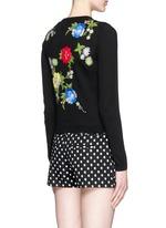花卉刺绣纯棉针织外套