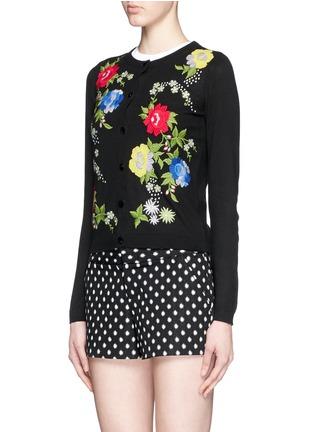 正面 -点击放大 - ALICE + OLIVIA - 花卉刺绣纯棉针织外套