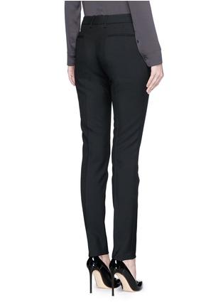 Back View - Click To Enlarge - SAINT LAURENT - Virgin wool gabardine pants