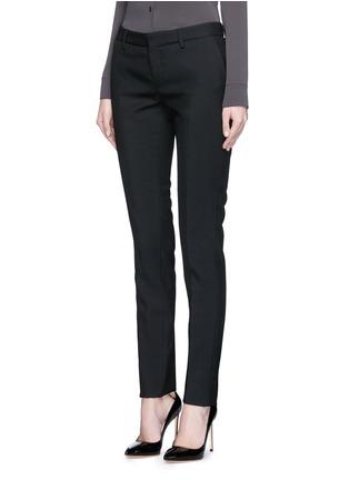 Front View - Click To Enlarge - SAINT LAURENT - Virgin wool gabardine pants