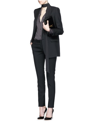 模特儿示范图 - 点击放大 - SAINT LAURENT - 羊毛修身长裤