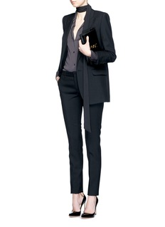SAINT LAURENT Peaked lapel cotton gabardine jacket