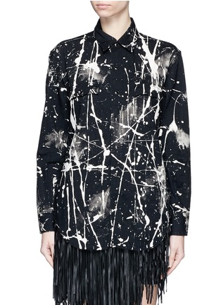Main View - Click To Enlarge - Saint Laurent - Splatter acid wash denim shirt