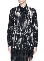 Splatter acid wash denim shirt