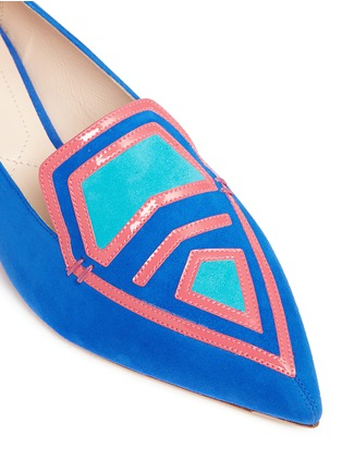 Detail View - Click To Enlarge - Nicholas Kirkwood - 'Outliner Leia' suede patent leather combo loafers