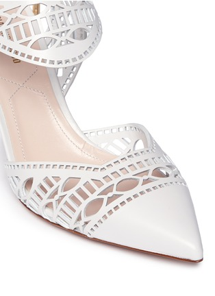 Detail View - Click To Enlarge - Nicholas Kirkwood - 'Leda' cutout vamp lasercut leather pumps