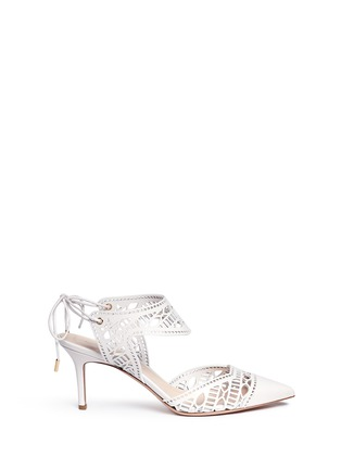 Main View - Click To Enlarge - Nicholas Kirkwood - 'Leda' cutout vamp lasercut leather pumps
