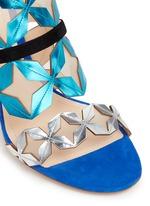 'Stella' star cutout metallic leather sandals