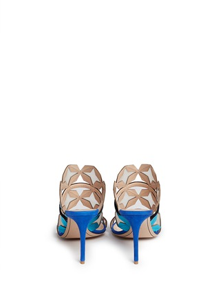 Back View - Click To Enlarge - Nicholas Kirkwood - 'Stella' star cutout metallic leather sandals