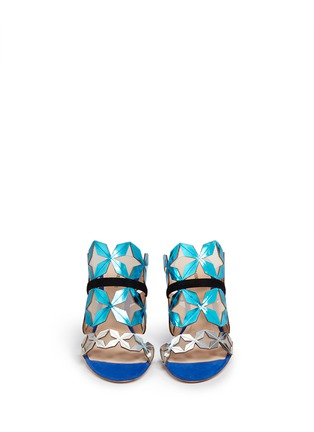 Front View - Click To Enlarge - Nicholas Kirkwood - 'Stella' star cutout metallic leather sandals
